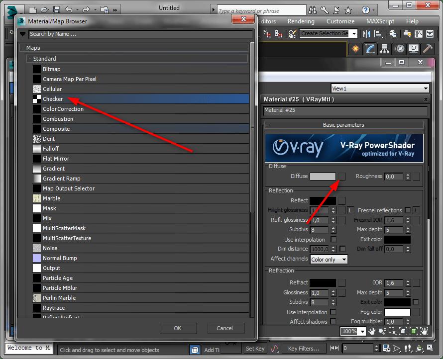 Простое текстурирование в 3ds Max 2
