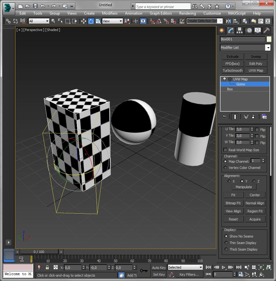 Простое текстурирование в 3ds Max 6
