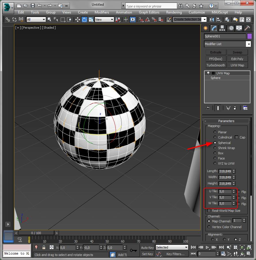Простое текстурирование в 3ds Max 7