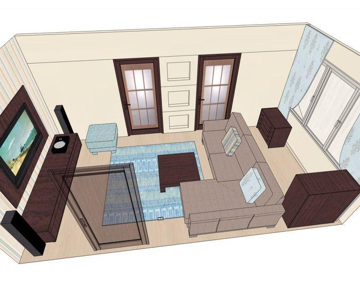 Расставляем мебель в Дизайн Интерьера 3D лого