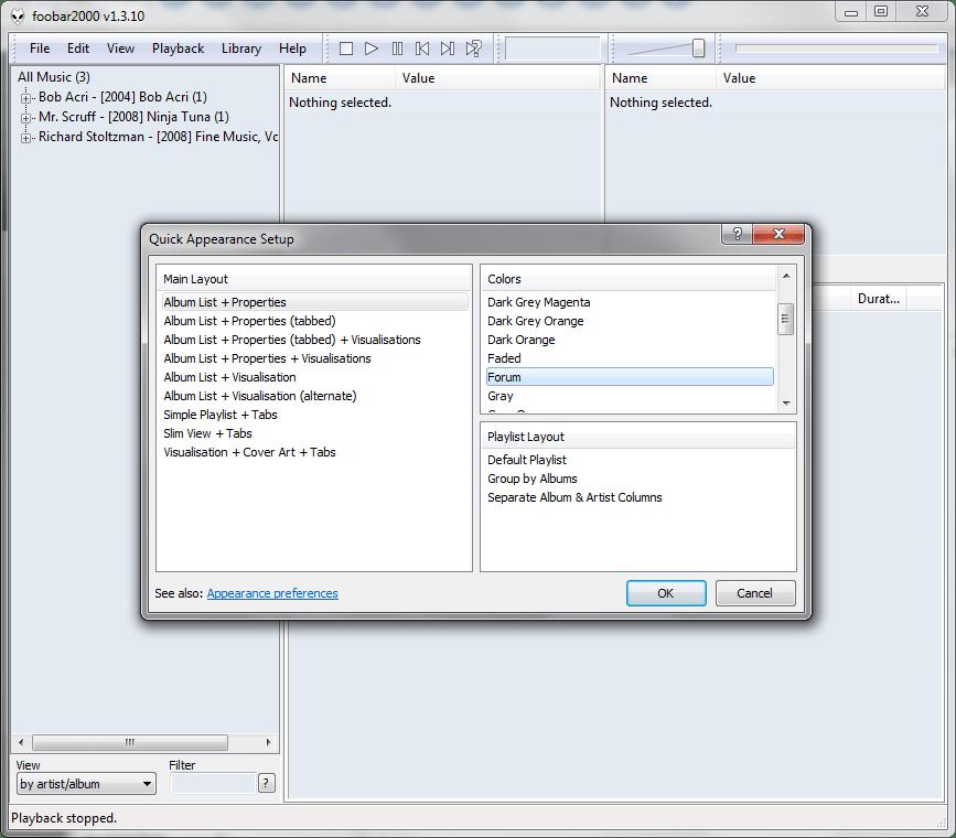 Шаблоны интерфейса в Foobar2000