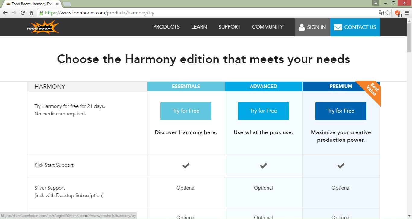 Сайт Toon Boom Harmony