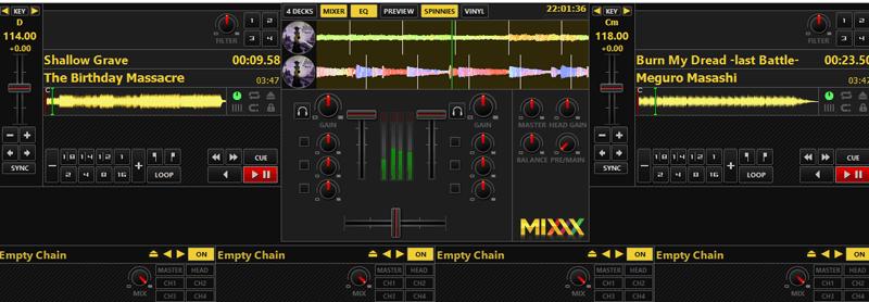 Создание микса в Mixxx