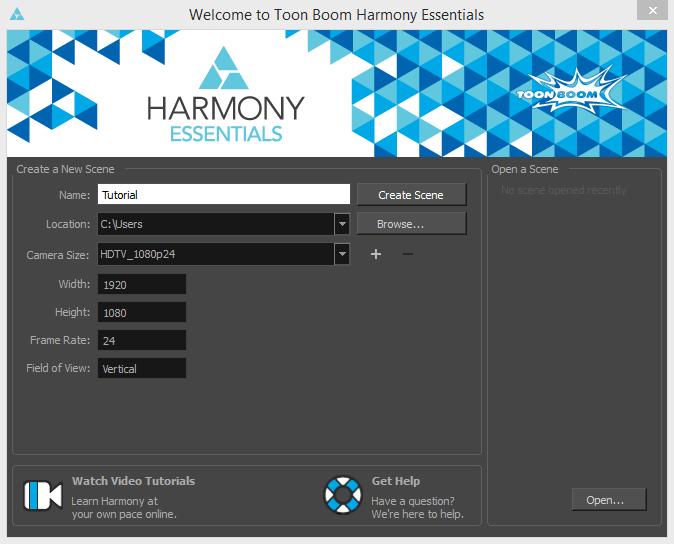 Создание сцены Toon Boom Harmony