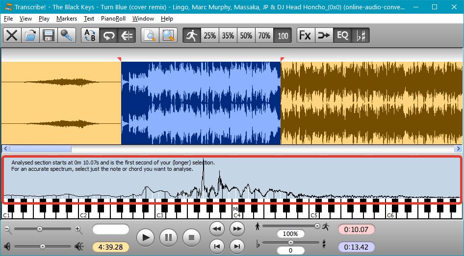 Спектральное отображение файлов в Transcribe!