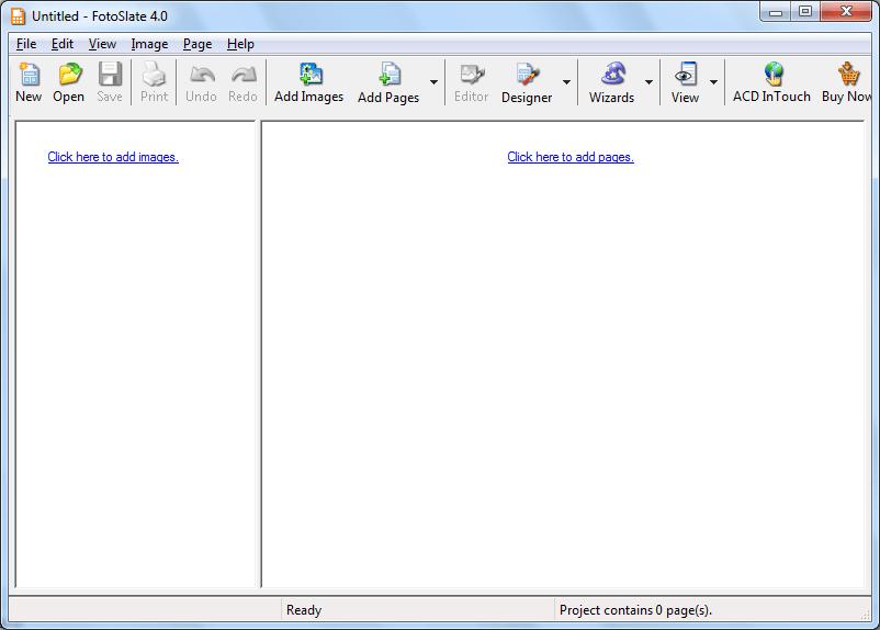 Стартовое окно программы ACD FotoSlate