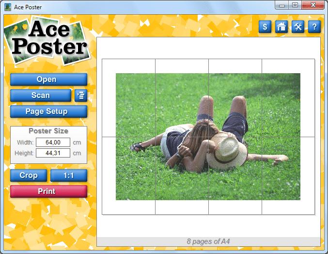 Стартовое окно программы Ace Poster