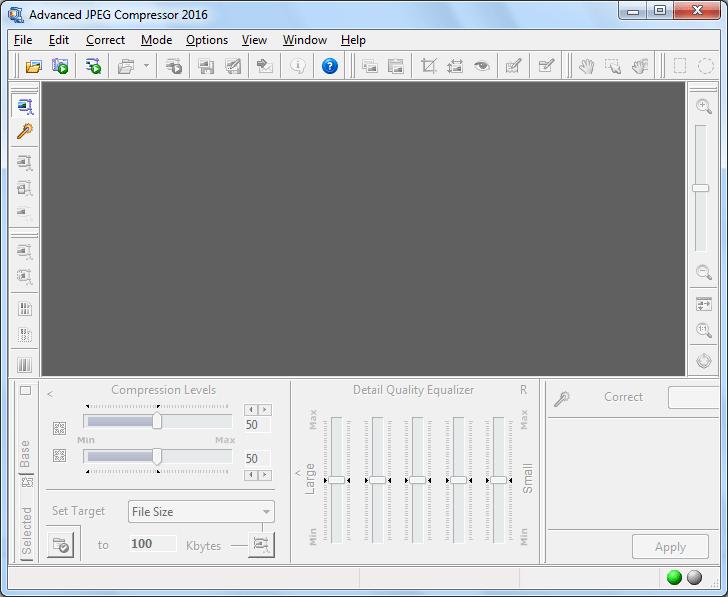 Стартовое окно программы Advanced JPEG Compressor