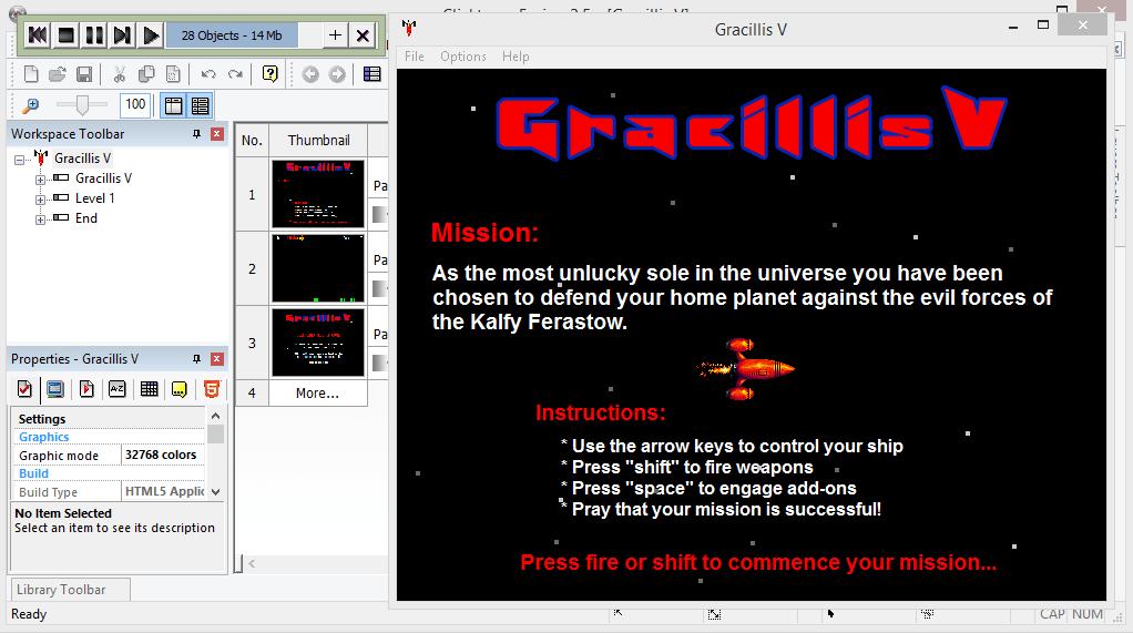 Тестирование Clickteam Fusion