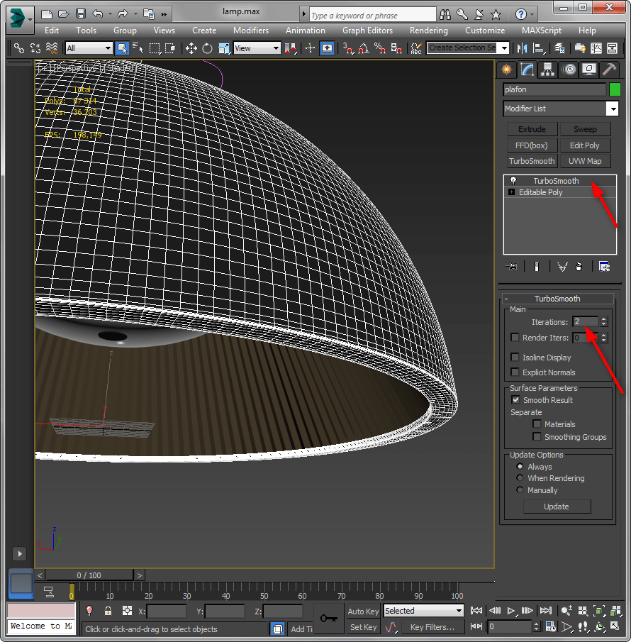 Уменьшить количество полигонов в 3ds Max 1