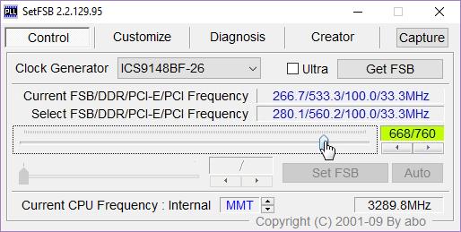 Програмку для разгона процессора intel setfsb