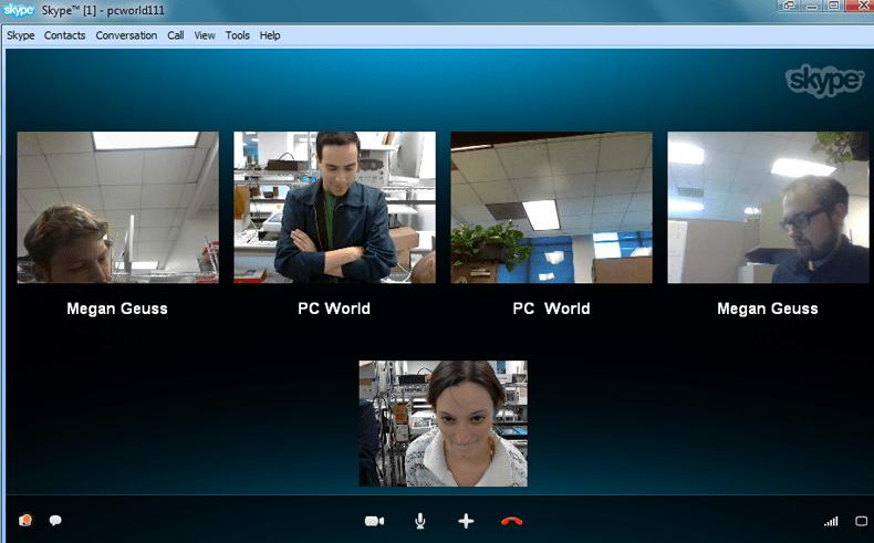 Видеоконференция в Skype