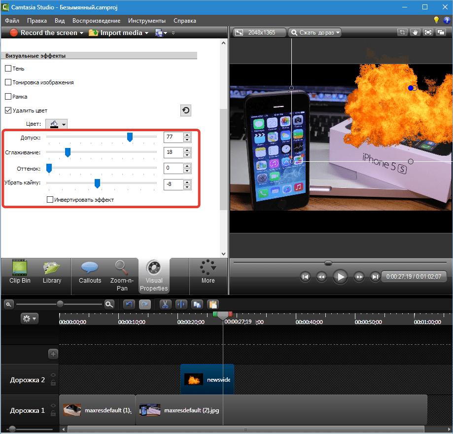 Визуальные свойства Camtasia Studio 8 (8)