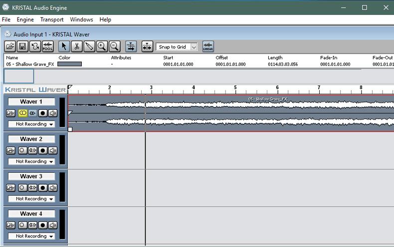 Внешний вид программы Kristal Audio Engine