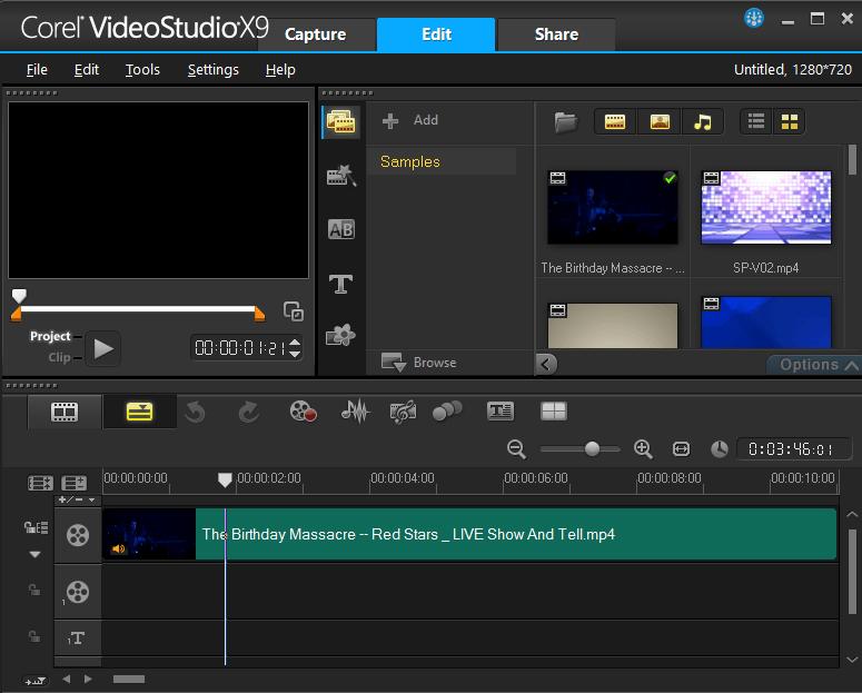 Внешний вид программы Ulead VideoStudio