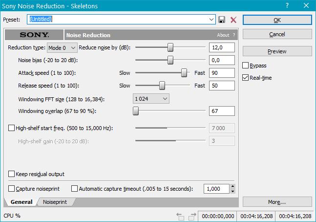 очистить аудиозапись в Sound Forge Pro