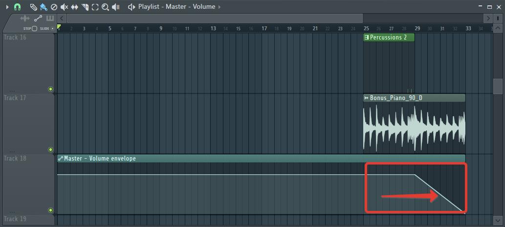 Автоматизация громкости (эффект затухания) в FL Studio