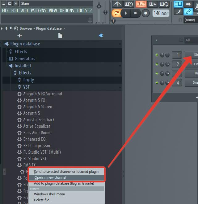 Добавление VST плагина из браузера в FL Studio