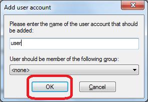 Добавление пользователя в программе FileZilla Server
