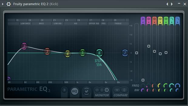 Эквалайзер бочки в FL Studio