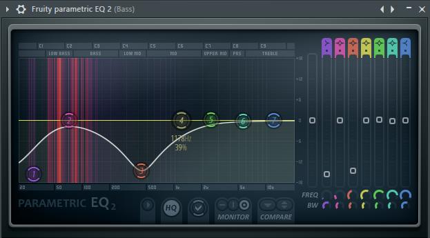 Эквалайзер для баса в FL Studio
