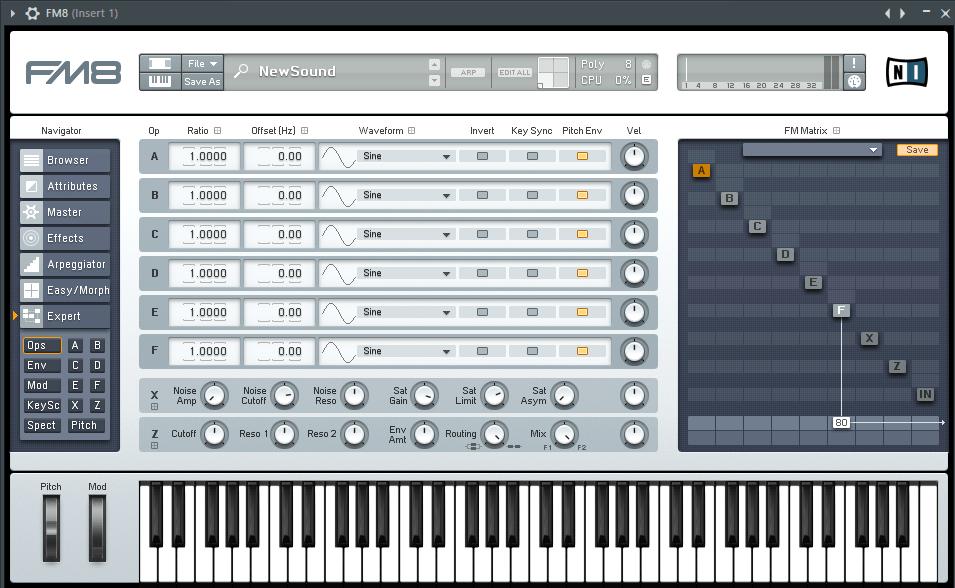 FM8 VST плагин для FL Studio