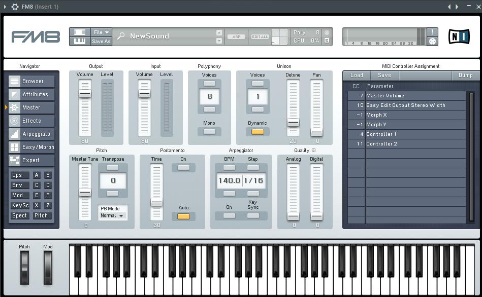 FM8 VST плагин в FL Studio