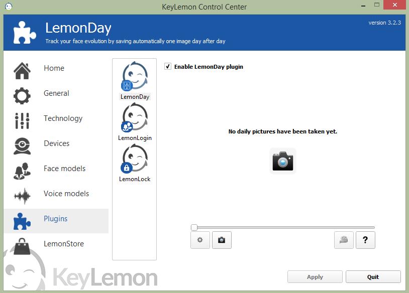 KeyLemon Скриншоты