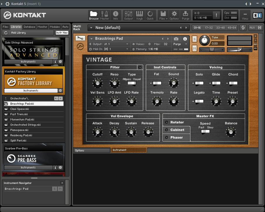 Kontakt VST плагин для FL Studio