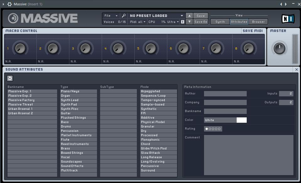 Massive VST плагин для FL Studio