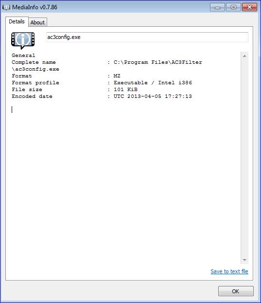 Медиа инфо в пакете K-Lite Codec Pack