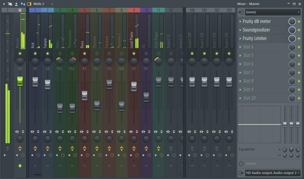 Микшер в FL Studio
