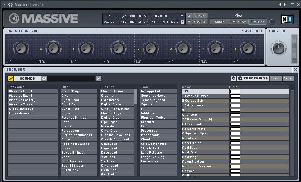 NI Massive VST плагин для FL Studio