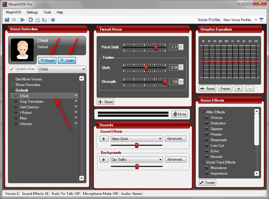 Настройка MorphVox Pro 1