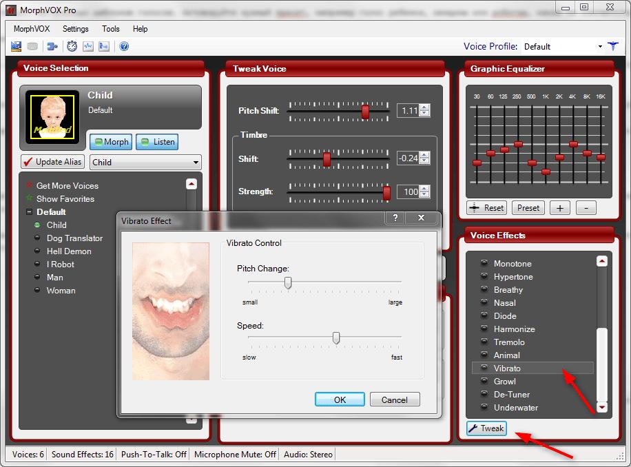 Настройка MorphVox Pro 5