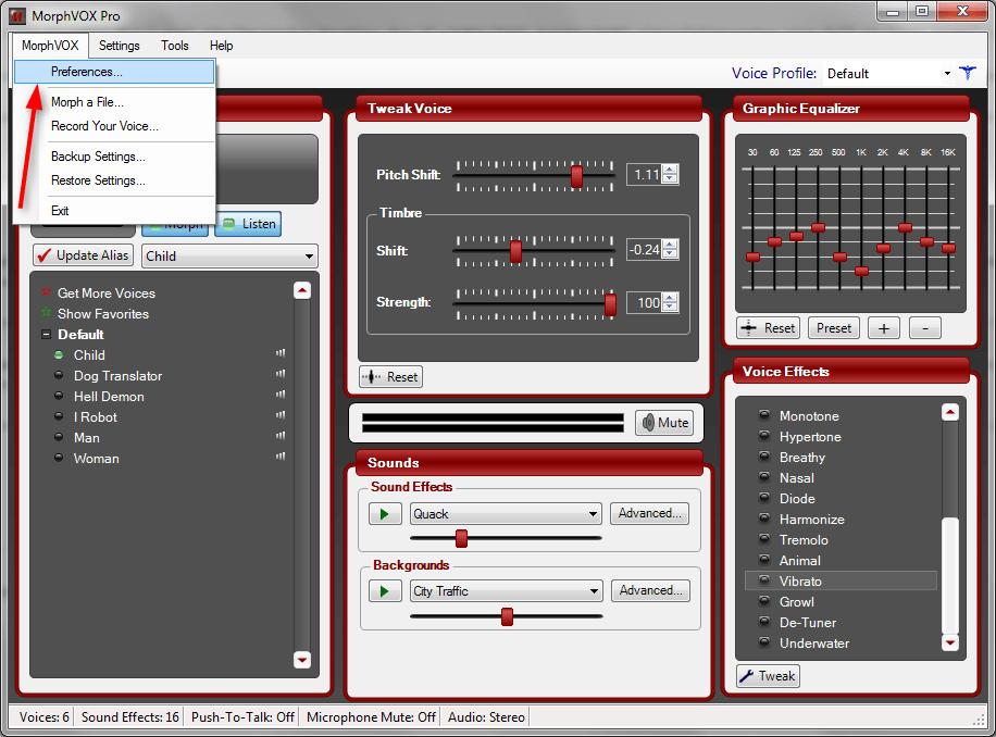 Настройка MorphVox Pro 6