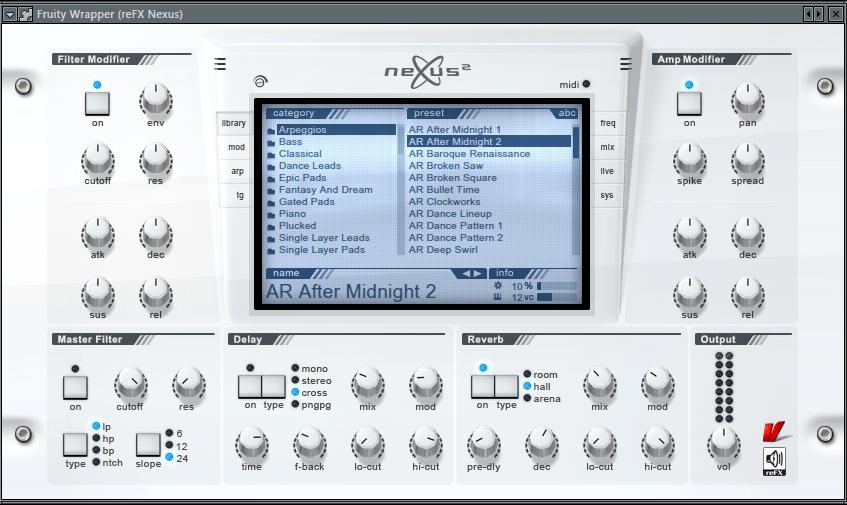 Nexus VST плагин для FL Studio