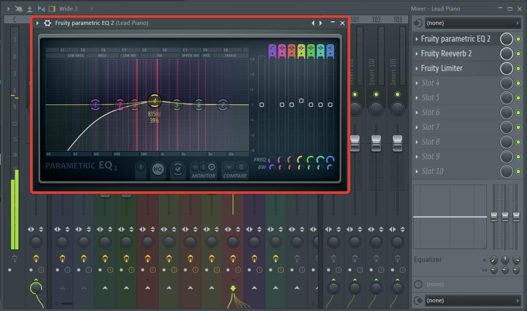 Обработка основной мелодии (эквалайзер) в FL Studio