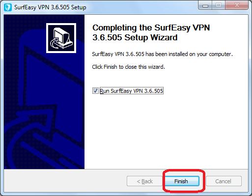 Окончание установки SurfEasy VPN в Opera