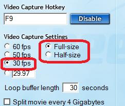 Оптимальные настройки FRAPS для записи видео в Steam