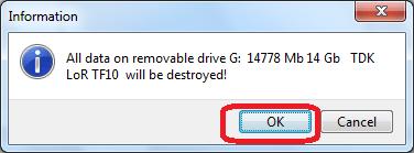 Предупреждение о удалении информации в программе HDD Regenerator