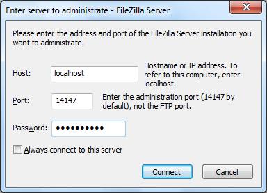 Предварительная настройка программы FileZilla Server