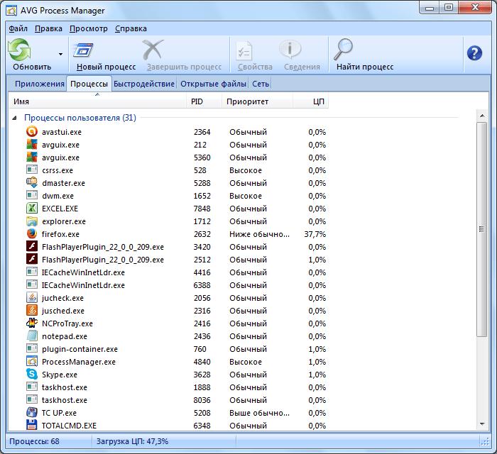 Очистка мобильных устройств в AVG PC TuneUp