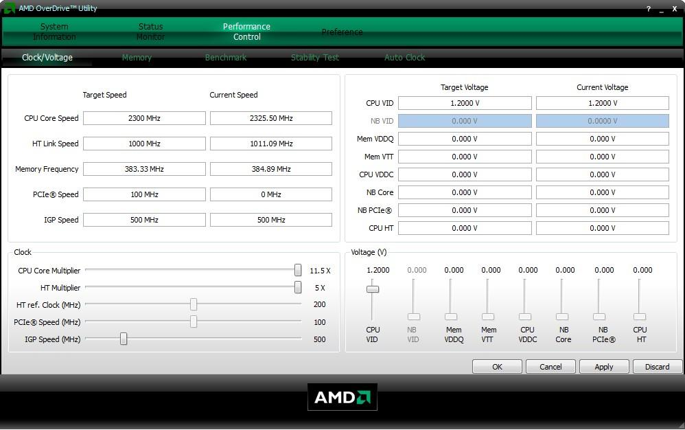 Разгон процессора в AMD OverDrive
