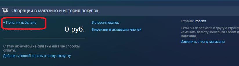 Страница с информацией об аккаунте в Steam
