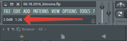 Цифровые показатели в FL Studio