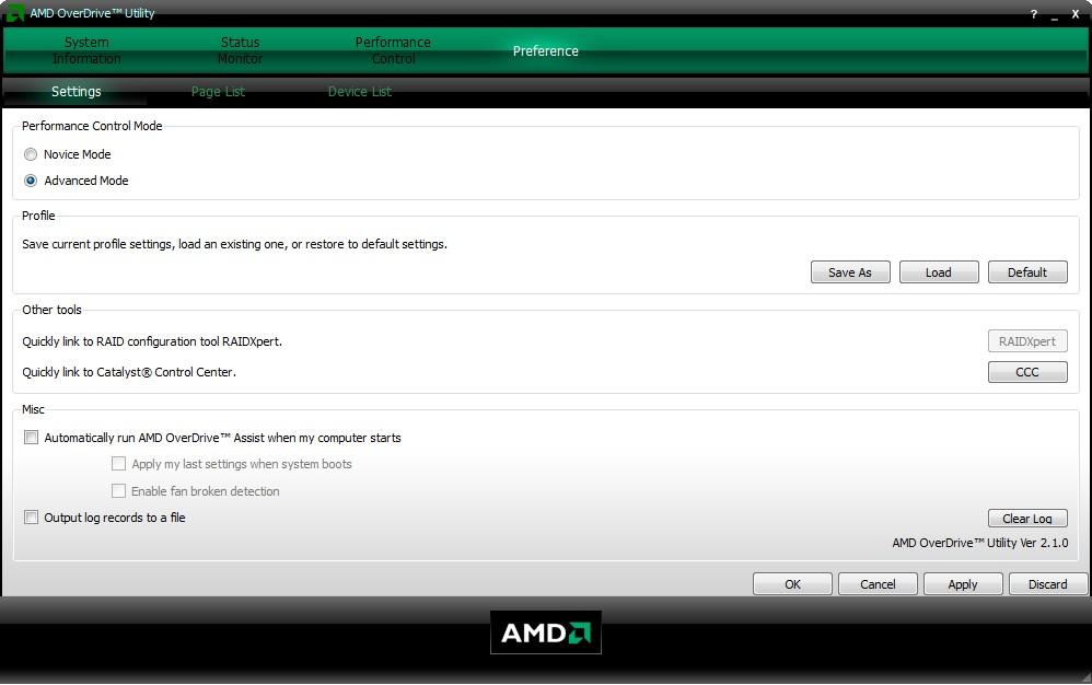 Тонкая настройка в AMD OverDrive