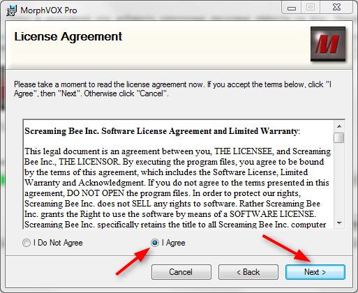 Установка MorphVox Pro 4