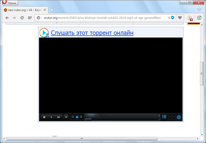 Запуск проигрывателя TS Magic Player для Opera на торрент-сайте
