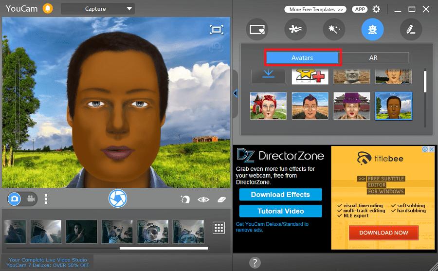 аватары в CyberLink YouCam